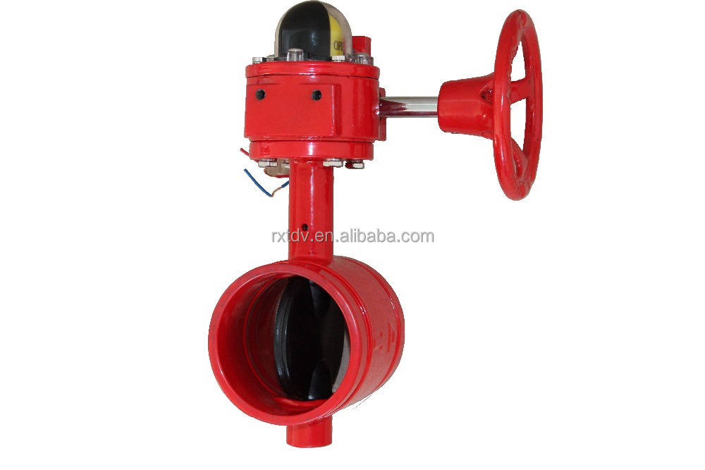 cast iron butterfly valve fire signal 4 inch butterfly valve Fire Fighting