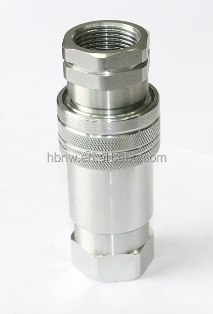 ISO7241A galvanized bsp npt thread adapter quick coupling 1 / 4 hydraulic pipe fitting