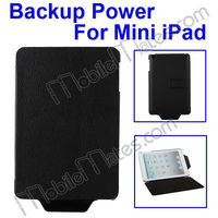 Lichee Texture 7000 mAh Portable Power Station Backup Battery Charger Case For iPad Mini