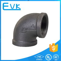 Black NPT Threaded Class 150 Malleable Iron Pipe Fittings
