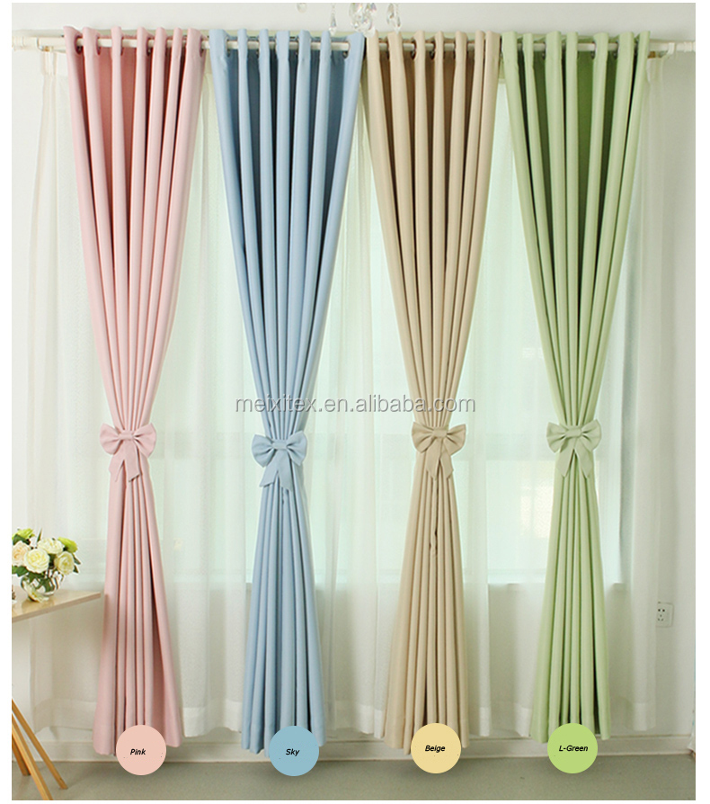 High Quality Polyester Plain blackout curtains