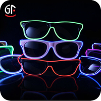 2016 Top Quality Free Sample Custom Flashing Led Sunglasses