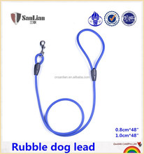 Soft rubber dog lead pet collars & leash dog collar with rubber