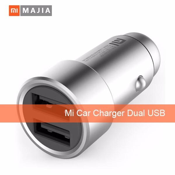 Original Xiaomi Mi Car Charger Dual USB Max 5V/3.5A Metal Style
