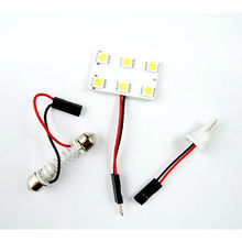 5050 6 SMD Festoon Dome light 6 Led light panel T10 adapters+ Festoon Dome Adapters,bus interior light