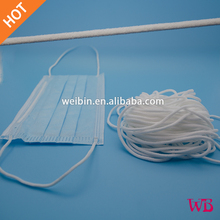 Round elastic cord/earloop for medical mask