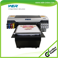 Top selling WER-D4880T t-shirt printer with high speed and resolution CE certified t shirt printer