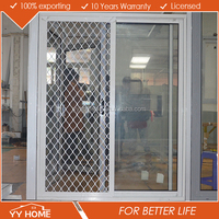 YY Home Australia Standard Double Glass sliding door cheap used closet door With Australian Standards AS2047 Certificated