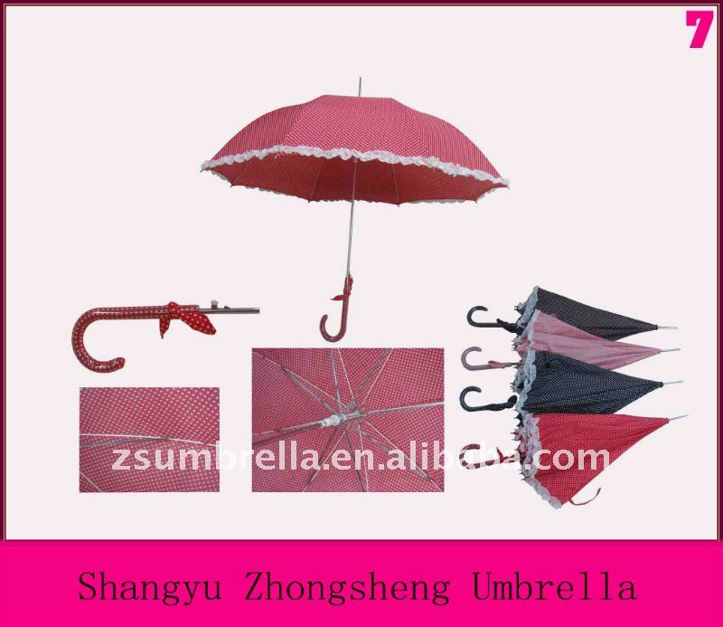 Lady parasol umbrella with lace