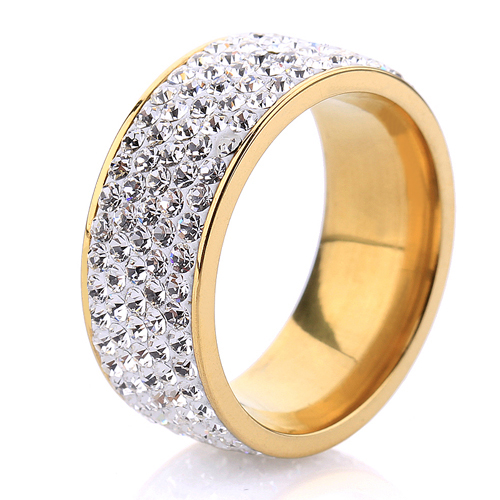 18K Gold Plated 316L Stainless steel women Jewelry finger ring