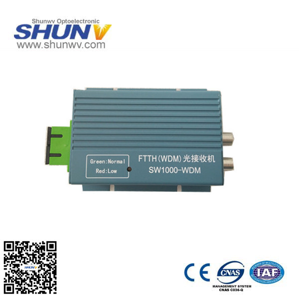 1550nm fiber optical equipment / FTTH CATV FTTH optical receiver