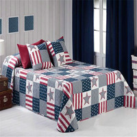 American Star Classical Simple Microfiber Patchwork Quilt