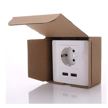 High quality cheap custom outlet socket with isolator switch , usa usb wall socket , USB wall switch socket