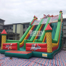 Customized double lane cheap giant sea world barry inflatable slide for sale factory price directly Guangzhou