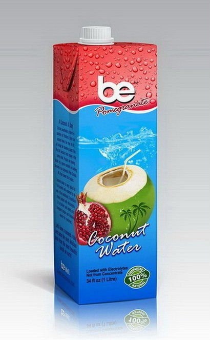 BE coconut water with pomegranate - 1 L.