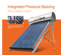 Integrated CompactPressurized Bearing Solar Geysers solar water heater With Water Tank Heat Pipe Solar hot water Stainless Steel