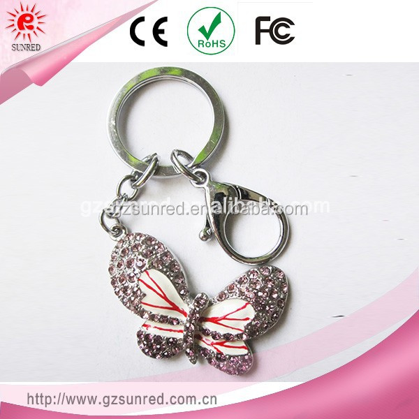 Top Products Hot Selling New 2014 Sex Butterful Mobile Phone Key Chain For Girls