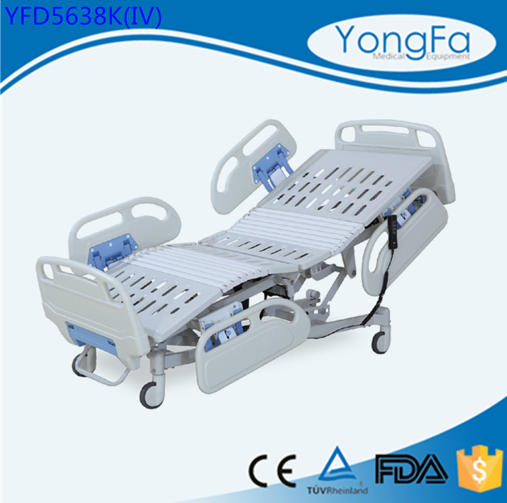 D8 YFD5638K(IV) Five Function hospital electric icu bed, patient electric bed for sale, remote control hospital bed