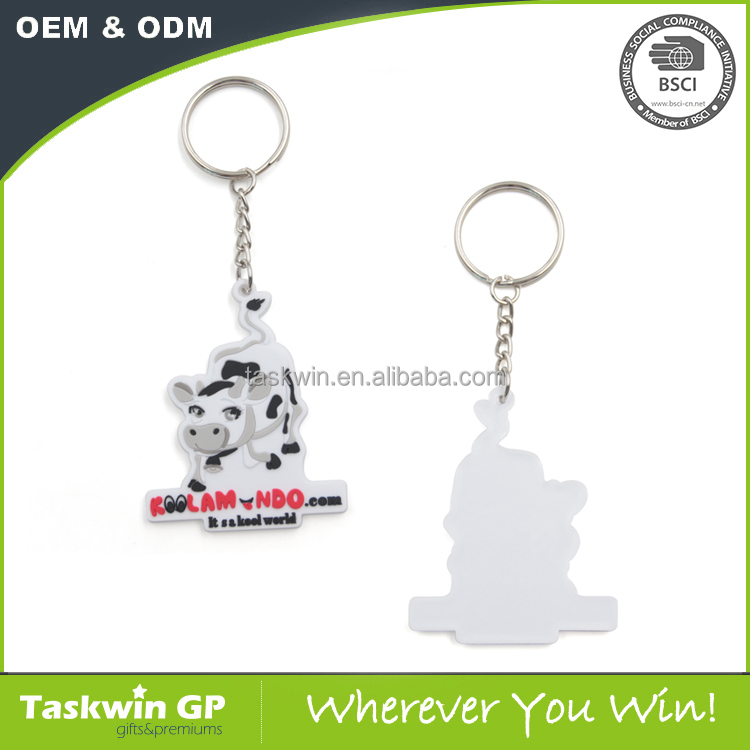 Cheap promotional gifts soft PVC keyring in custom shape made in China