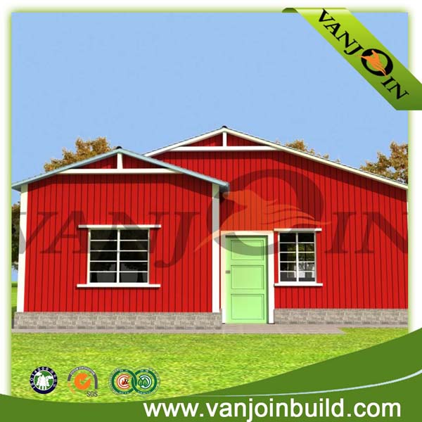 Low cost sandwich panel two bedroom prefabricated house
