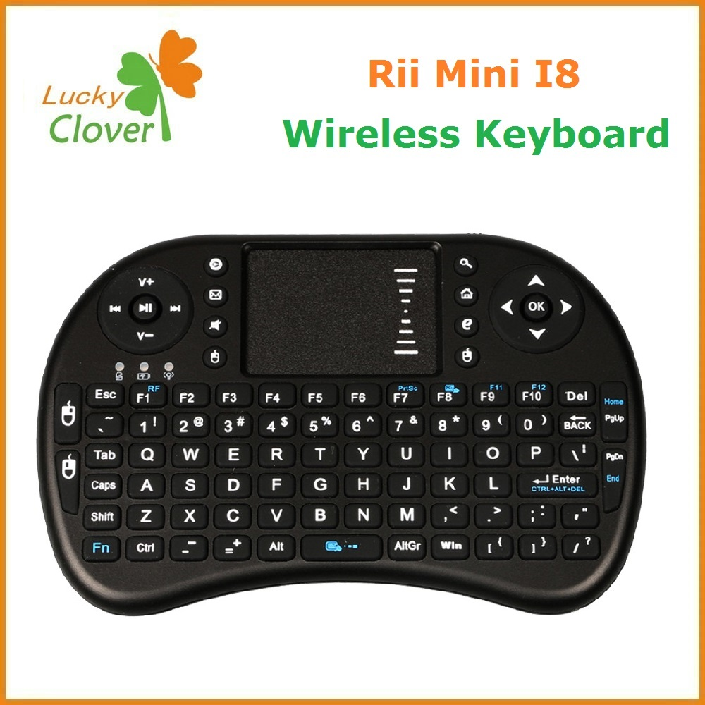 Wireless Keyboard Rii i8 for smart tv box and ipad pc, universal remote control i8 wireless keyboard
