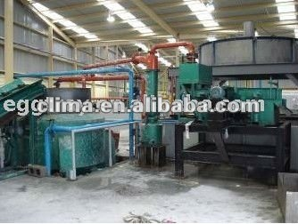Recycled waste paper pulp moulding machine