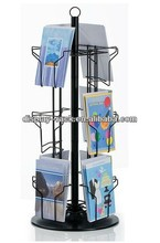 counter metal post card display stand HSX-4146