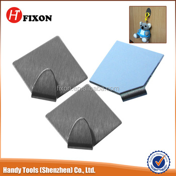 Factory supply metal hook ,hanging hook , Self adhesive stainless steel /metal hook flat metal hook