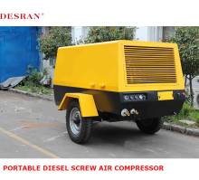 Desran portable diesel driven screw compressor 60kw