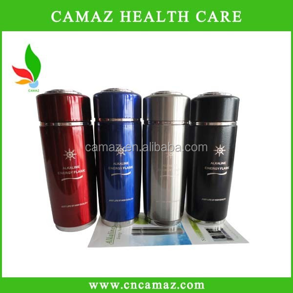 Stainless steel nano water cupfor alkaline water PH 8.5, silver, black,red,blue color Can OEM