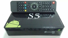 Speed HD S5 Android Amlogic S805 Quad Core TV box with DVB-S2 IKS& SKS twin tuner free for south america