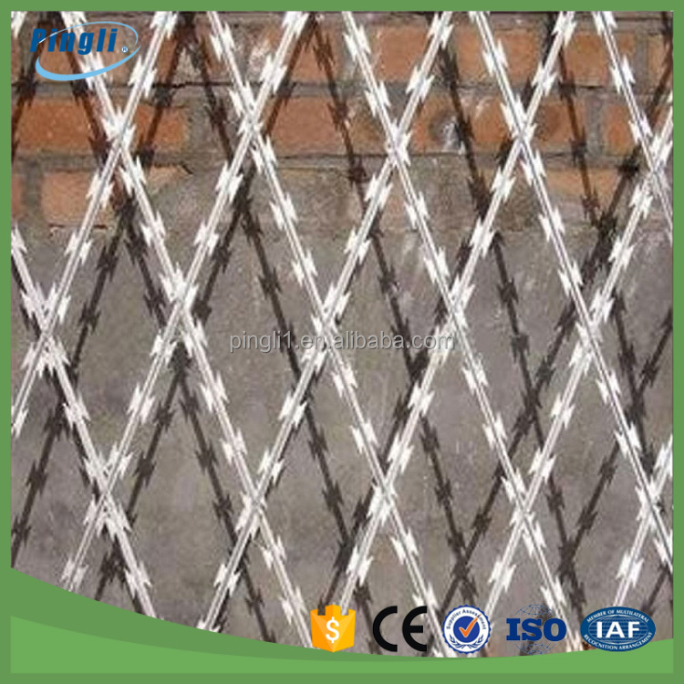 Barbed Wire Mesh Type and Steel Wire Material razor wire