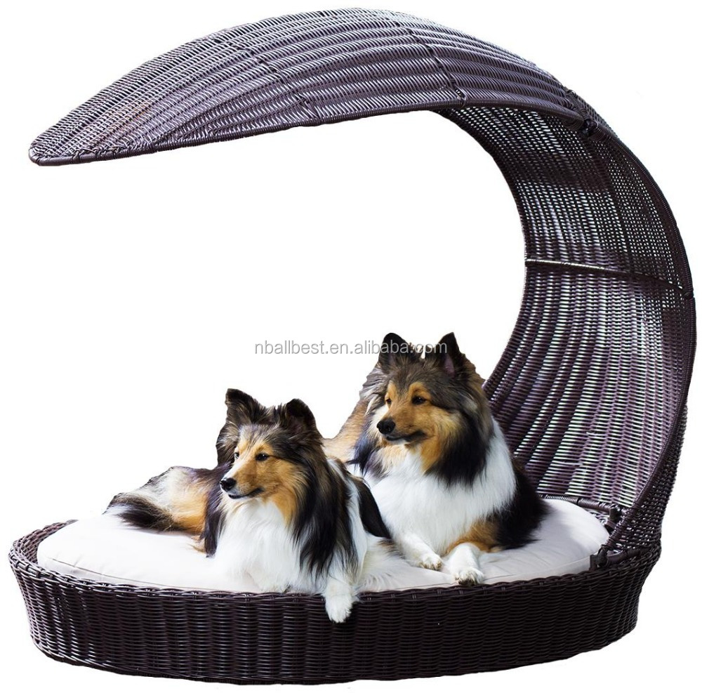 Aluminum wicker rattan pet cages dog drybed and rattan dog cages