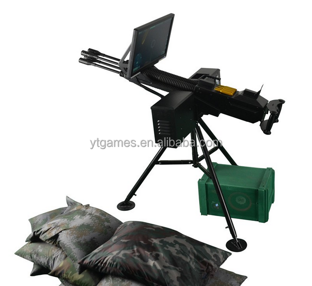 shotting game !!!Simulated Antiaircraft machine gun A amusement game machine