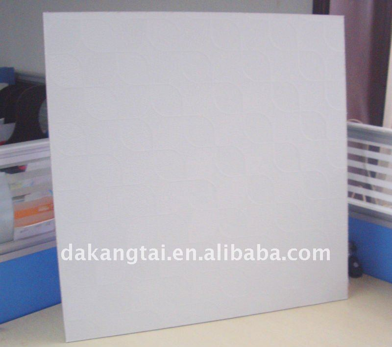 Laminated pvc gypsum false celing tile