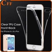Ultrathin 360 Degree Full Body Protective Soft TPU Cover Case For iPhone 6 7 Clear Transparent Slim Front+Back Touch Phone Case