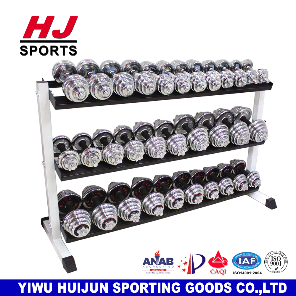 HJ-A009 Fitness Equipment Exercise Machine Gymnasium 3 layer Dumbell Rack