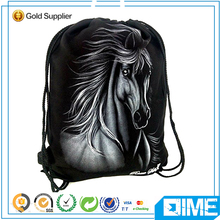 Wholesale durable drawstring bags with wild horse
