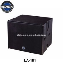 3 Way Long Throw Active 18 Inch Line Array Speaker System Subwoofer For Stadium, Outdoor Stage, Theater Morin LA-181