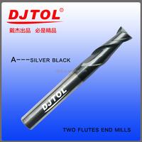 two flutes end mill for steel and other metal