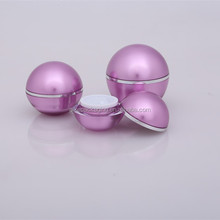 Trade Assurance 5ml 10ml 15ml 30ml 50ml 60ml 100ml empty ball shape acrylic cosmetic jar hair wax jar cosmetic cream jar