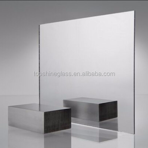 Standing silver mirror glass