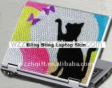 Cartoon animal cute crystal pink laptop sticker laptop skin sticker