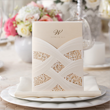 2015 Luxury white Paper CW060 Wedding Invitation Cards With Laser Cut Pearl Pattern,laser cut wedding invatations