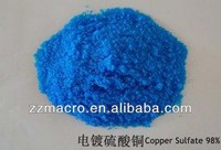 Reputed & trustworthy manufactures copper sulphate for water treatment cuso4.5h2o