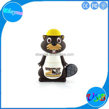 PVC usb animal monkey shape thumb drive 8gb capacity usb flash pen drive