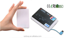 Credit card portable 2600mah high quality power bank