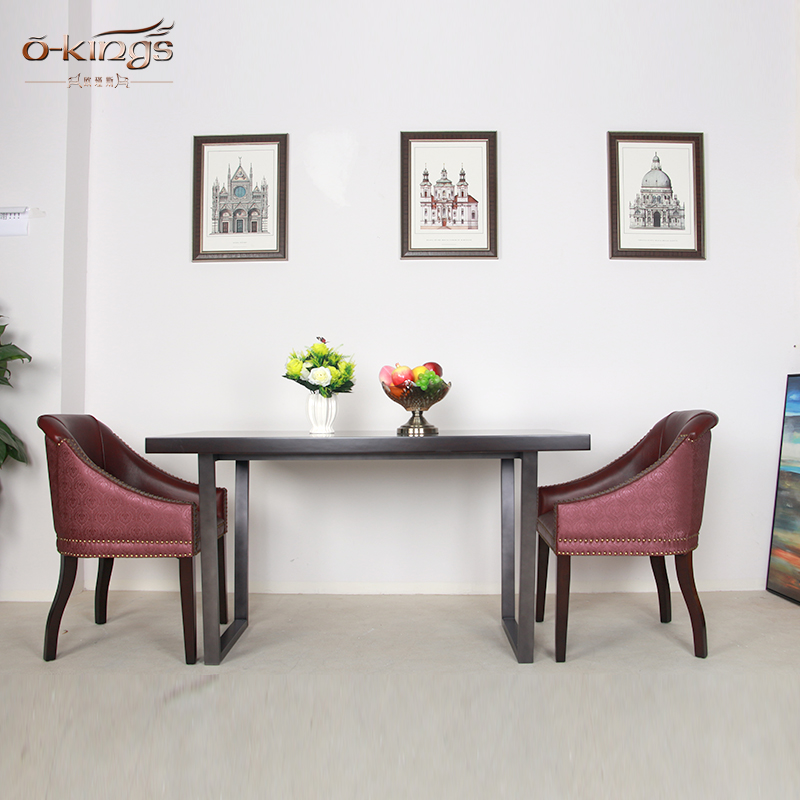 Hot sale High End Solid Wood Restaurant dining Table and Chair Set
