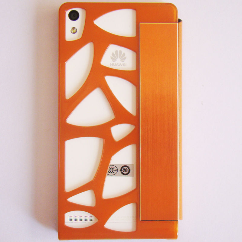 factory costom designing flip cover for huawei ascend p6