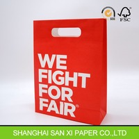 Machine Making Die Cut Handle Kraft Paper Bags Wholesale